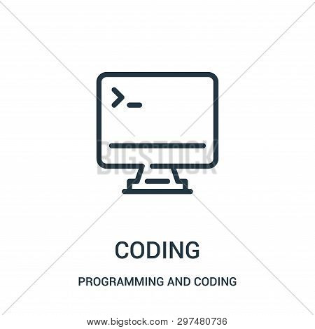 Coding Icon Isolated On White Background From Programming And Coding Collection. Coding Icon Trendy