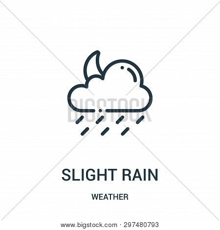 Slight Rain Icon Isolated On White Background From Weather Collection. Slight Rain Icon Trendy And M