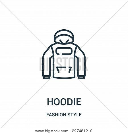 Hoodie Icon Isolated On White Background From Fashion Style Collection. Hoodie Icon Trendy And Moder