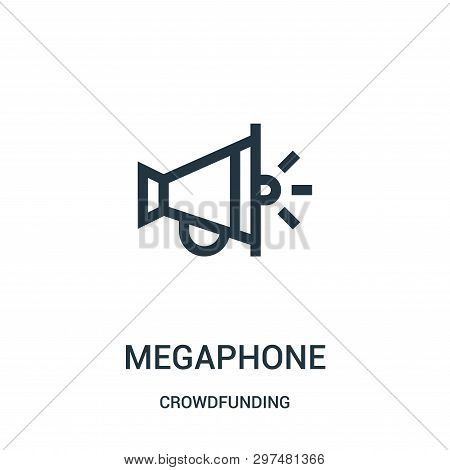 Megaphone Icon Isolated On White Background From Crowdfunding Collection. Megaphone Icon Trendy And