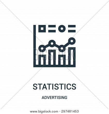 Statistics Icon Isolated On White Background From Advertising Collection. Statistics Icon Trendy And
