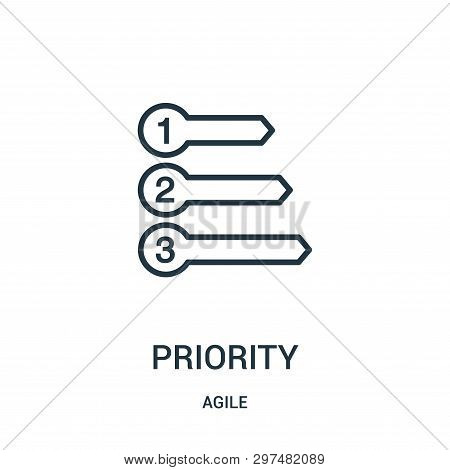 Priority Icon Isolated On White Background From Agile Collection. Priority Icon Trendy And Modern Pr