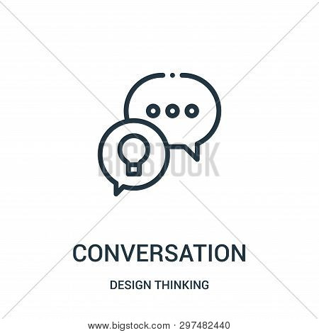 Conversation Icon Isolated On White Background From Design Thinking Collection. Conversation Icon Tr