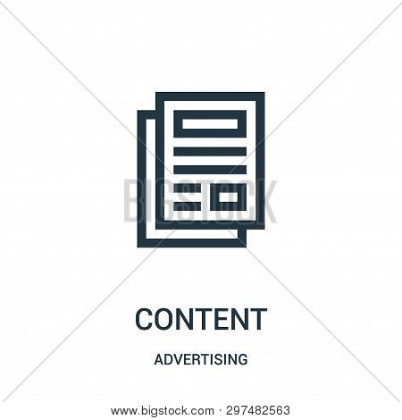 Content Icon Isolated On White Background From Advertising Collection. Content Icon Trendy And Moder