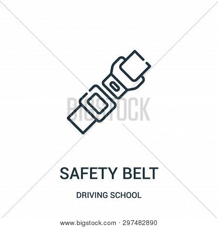 Safety Belt Icon Isolated On White Background From Driving School Collection. Safety Belt Icon Trend
