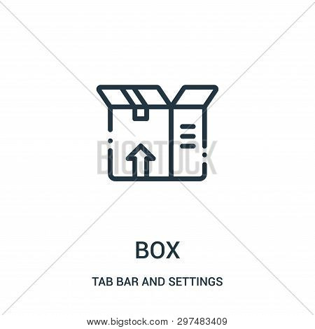 Box Icon Isolated On White Background From Tab Bar And Settings Collection. Box Icon Trendy And Mode