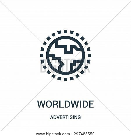 Worldwide Icon Isolated On White Background From Advertising Collection. Worldwide Icon Trendy And M