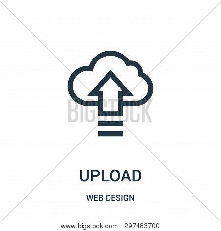 Upload Icon Isolated On White Background From Web Design Collection. Upload Icon Trendy And Modern U