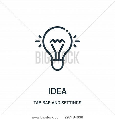 Idea Icon Isolated On White Background From Tab Bar And Settings Collection. Idea Icon Trendy And Mo