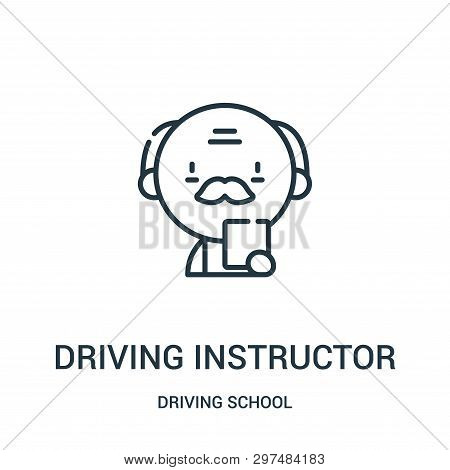 Driving Instructor Icon Isolated On White Background From Driving School Collection. Driving Instruc