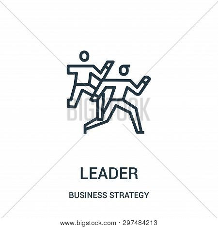 Leader Icon Isolated On White Background From Business Strategy Collection. Leader Icon Trendy And M