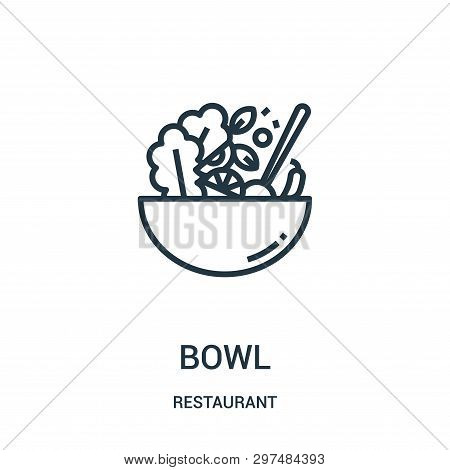Bowl Icon Isolated On White Background From Restaurant Collection. Bowl Icon Trendy And Modern Bowl