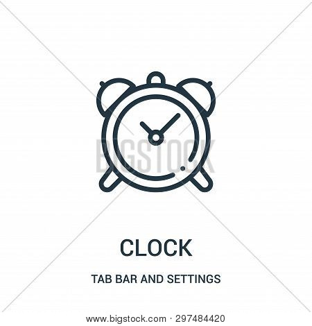 Clock Icon Isolated On White Background From Tab Bar And Settings Collection. Clock Icon Trendy And