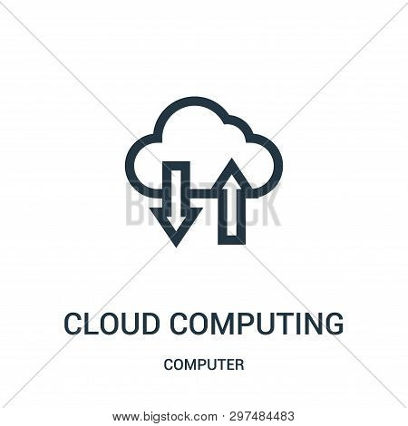 Cloud Computing Icon Isolated On White Background From Computer Collection. Cloud Computing Icon Tre