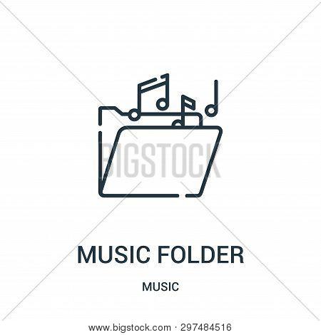 Music Folder Icon Isolated On White Background From Music Collection. Music Folder Icon Trendy And M