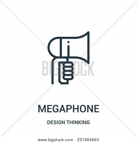 Megaphone Icon Isolated On White Background From Design Thinking Collection. Megaphone Icon Trendy A
