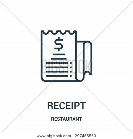 Receipt Icon Isolated On White Background From Restaurant Collection. Receipt Icon Trendy And Modern