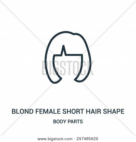 Blond Female Short Hair Shape Icon Isolated On White Background From Body Parts Collection. Blond Fe