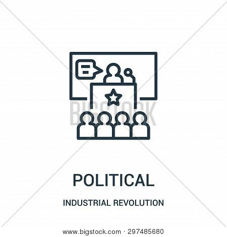 Political Icon Isolated On White Background From Industrial Revolution Collection. Political Icon Tr