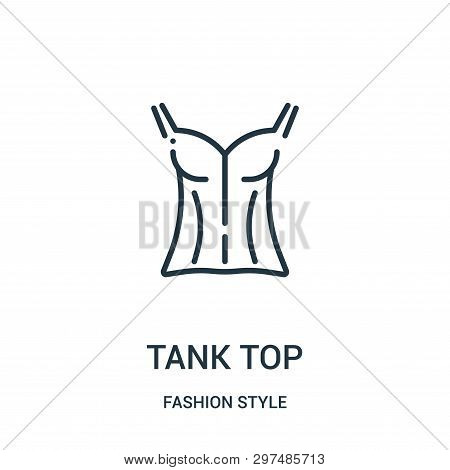 Tank Top Icon Isolated On White Background From Fashion Style Collection. Tank Top Icon Trendy And M