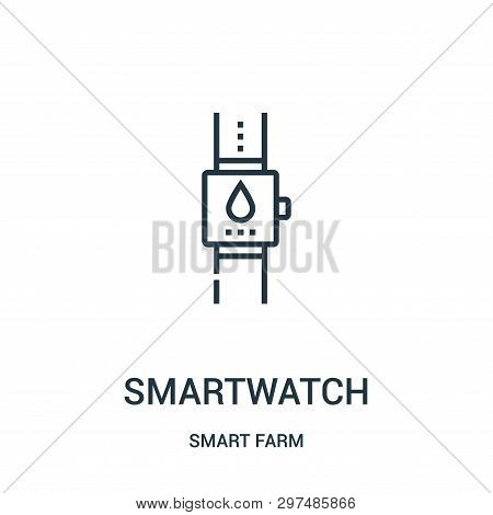Smartwatch Icon Isolated On White Background From Smart Farm Collection. Smartwatch Icon Trendy And