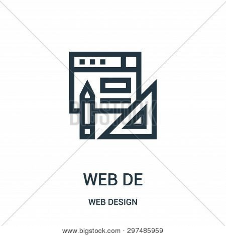 Web Design Icon Isolated On White Background From Web Design Collection. Web Design Icon Trendy And
