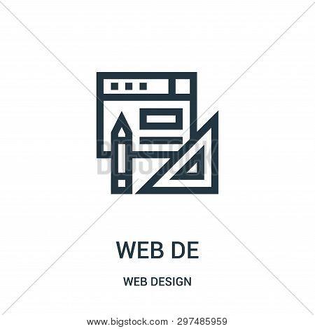 Web Design Icon Isolated On White Background From Web Design Collection. Web Design Icon Trendy And