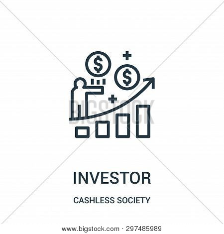 Investor Icon Isolated On White Background From Cashless Society Collection. Investor Icon Trendy An