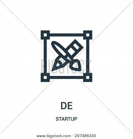 Design Icon Isolated On White Background From Startup Collection. Design Icon Trendy And Modern Desi