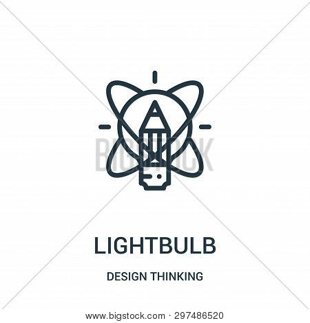 Lightbulb Icon Isolated On White Background From Design Thinking Collection. Lightbulb Icon Trendy A
