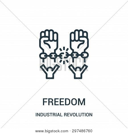 Freedom Icon Isolated On White Background From Industrial Revolution Collection. Freedom Icon Trendy