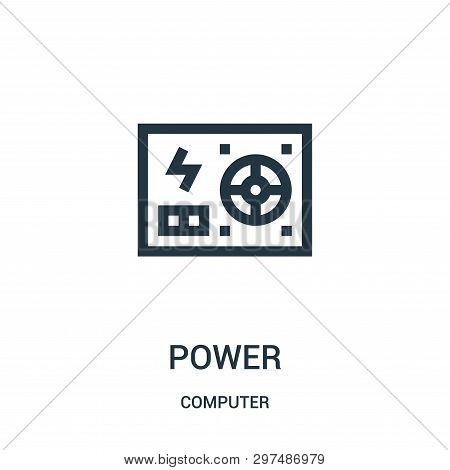 Power Icon Isolated On White Background From Computer Collection. Power Icon Trendy And Modern Power