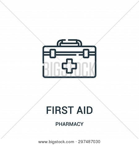 First Aid Icon Isolated On White Background From Pharmacy Collection. First Aid Icon Trendy And Mode