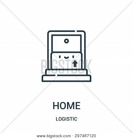 Home Icon Isolated On White Background From Logistic Collection. Home Icon Trendy And Modern Home Sy