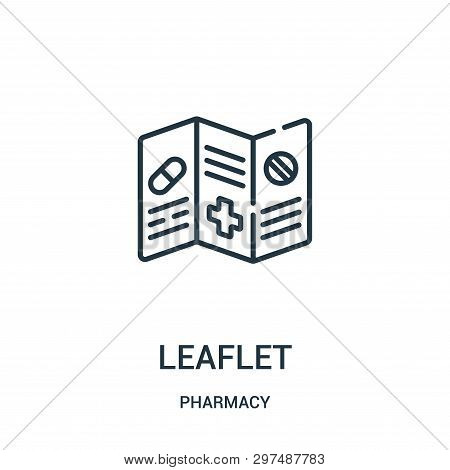 Leaflet Icon Isolated On White Background From Pharmacy Collection. Leaflet Icon Trendy And Modern L