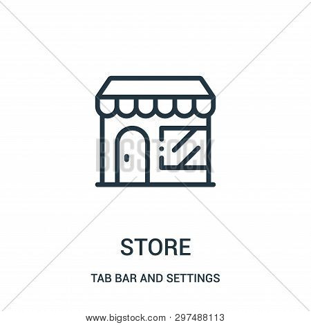 Store Icon Isolated On White Background From Tab Bar And Settings Collection. Store Icon Trendy And