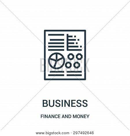 Business Icon Isolated On White Background From Finance And Money Collection. Business Icon Trendy A