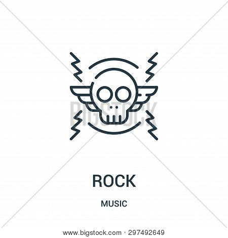 Rock Icon Isolated On White Background From Music Collection. Rock Icon Trendy And Modern Rock Symbo