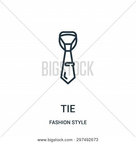 Tie Icon Isolated On White Background From Fashion Style Collection. Tie Icon Trendy And Modern Tie