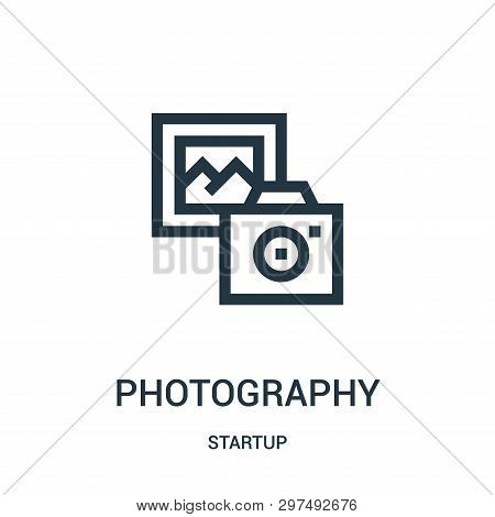 Photography Icon Isolated On White Background From Startup Collection. Photography Icon Trendy And M