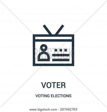 Voter Icon Isolated On White Background From Voting Elections Collection. Voter Icon Trendy And Mode