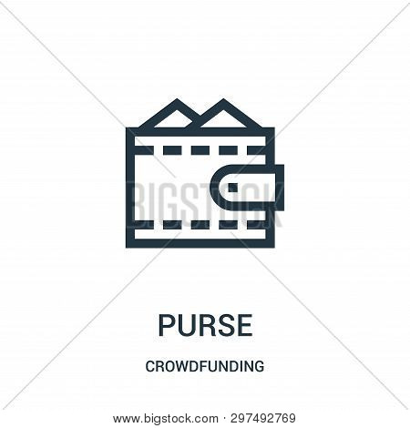 Purse Icon Isolated On White Background From Crowdfunding Collection. Purse Icon Trendy And Modern P