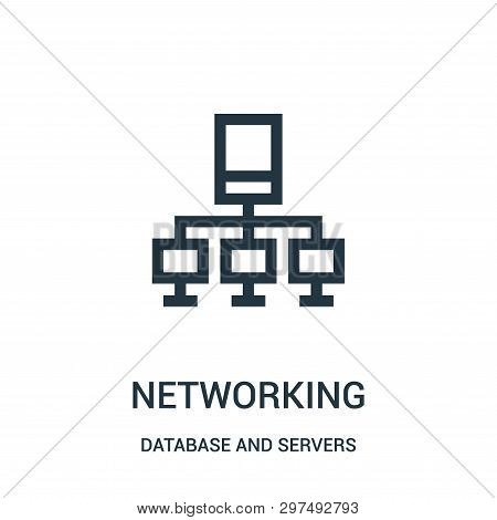 Networking Icon Isolated On White Background From Database And Servers Collection. Networking Icon T