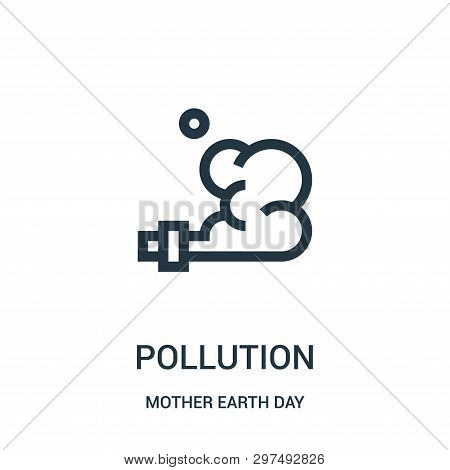 Pollution Icon Isolated On White Background From Mother Earth Day Collection. Pollution Icon Trendy
