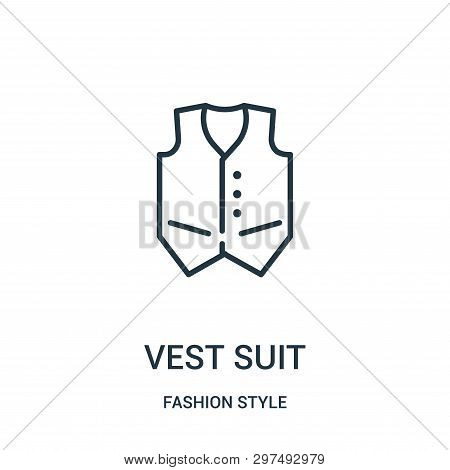Vest Suit Icon Isolated On White Background From Fashion Style Collection. Vest Suit Icon Trendy And