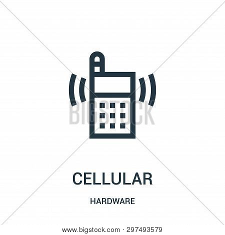 Cellular Icon Isolated On White Background From Hardware Collection. Cellular Icon Trendy And Modern