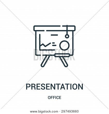 Presentation Icon Isolated On White Background From Office Collection. Presentation Icon Trendy And