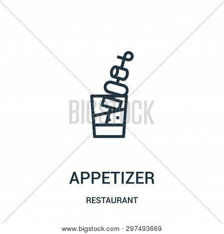 Appetizer Icon Isolated On White Background From Restaurant Collection. Appetizer Icon Trendy And Mo