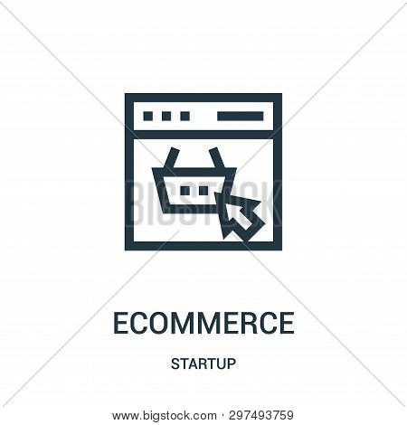 Ecommerce Icon Isolated On White Background From Startup Collection. Ecommerce Icon Trendy And Moder