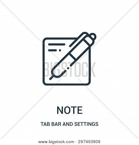 Note Icon Isolated On White Background From Tab Bar And Settings Collection. Note Icon Trendy And Mo